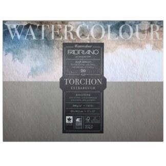 19100276 Альбом для акварели Watercolour Torchon Extra Rough 23х30,5 см 300 г/м.кв. 20 листов Fabriano Италия