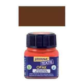 Краска по тканям и коже прочная нерастекающаяся KR-90959 Коричневая серна 20 мл Opak Javana C.KREUL