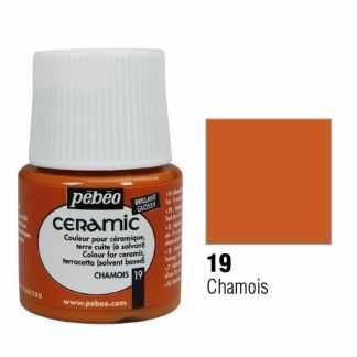 Краска-эмаль лаковая непрозрачная 019 Коричнево-желтый 45 мл Ceramic Pebeo