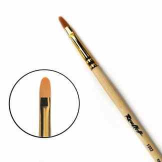 Кисточка «Roubloff» 1332 Синтетика овальная №07 длинная ручка рыжий ворс