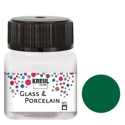 Краска по фарфору и керамике на водной основе KR-16225 Зеленая темная 20 мл Hobby Line C.KREUL