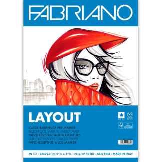 Альбом для маркеров Blocco Layot А4 (21х29,7 см) 75 г/м.кв. 70 листов склейка белая бумага Fabriano Италия