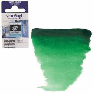Акварельная краска Van Gogh 645 Хукера зеленая темная 2,5 мл кювета Royal Talens