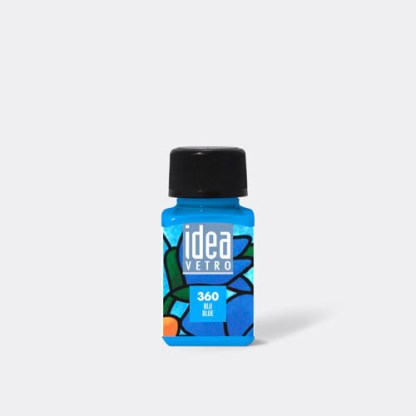 Краска для стекла 360 синий 60 мл Idea Vetro Maimeri Италия