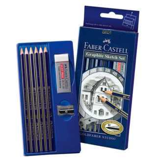 Набор чернографитных карандашей Goldfaber 6 штук Faber-Castell