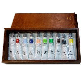 Подарочный набор акриловых красок 10х20 мл дерево (13х30см)  Renesans