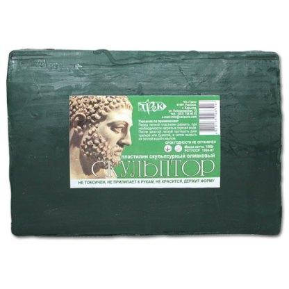 Пластилин скульптурный «Скульптор» оливковый 1 кг «Трек» Украина