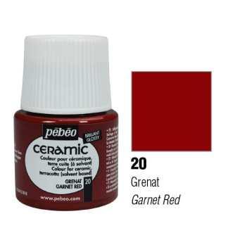 Краска-эмаль лаковая непрозрачная 020 Гранатовый 45 мл Ceramic Pebeo