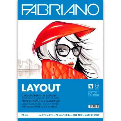 Альбом для маркеров Blocco Layot А3 (29,7х42 см) 75 г/м.кв. 70 листов склейка белая бумага Fabriano Италия