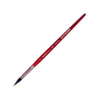 Кисточка «Автор» 5072 Белка имитация круглая №11 короткая ручка красная АртАвангард