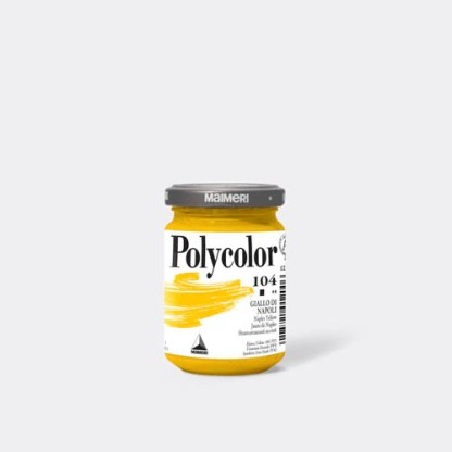 Акриловая краска Polycolor 140 мл 104 неаполитанский желтый Maimeri Италия