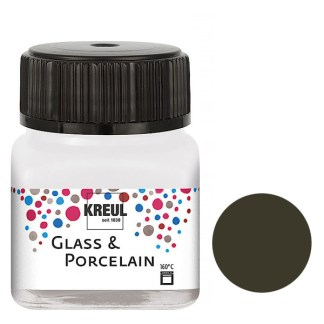 Краска по фарфору и керамике на водной основе KR-16226 Коричневая темная 20 мл Hobby Line C.KREUL