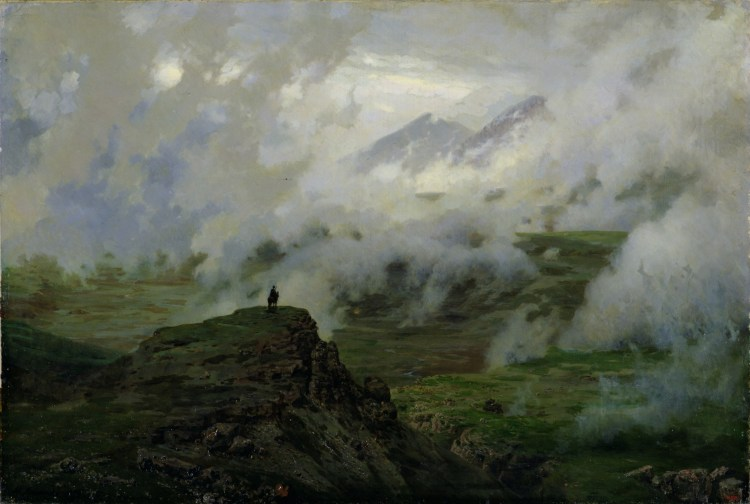 SRM37760 Mount El'brus, Russia, 1894 (oil on canvas) by Yaroshenko, Nikolai Aleksandrovich (1846-98); State Russian Museum, St. Petersburg, Russia; Russian,  out of copyright