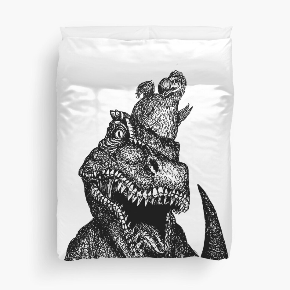 25 dinosaur duvet covers you should see | Dodo and Trex Buddies duvet cover by FeathersAndBone | Source: Redbubble