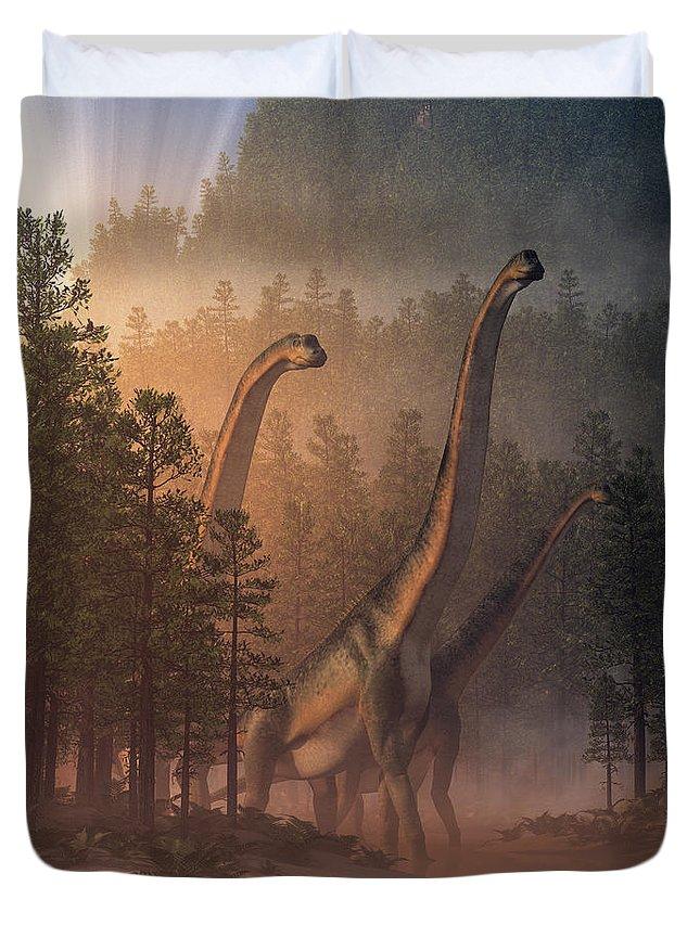 25 dinosaur duvet covers you should see | Brachiosaurus Valley Duvet Cover by Daniel Eskridge | Source: Fine Art America