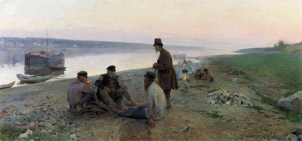 Alexey Korin, Haulers. 1897
