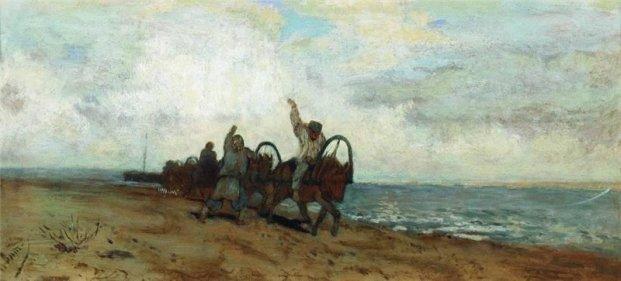 Isaac Levitan. Barge-Haulers