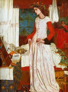 Queen Guinevere by William Morris, 1858. Tate Gallery London, UK.