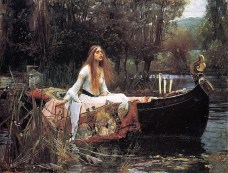 The Lady of Shalott by John William Waterhouse, 1888. Tate Gallery, London, UK.