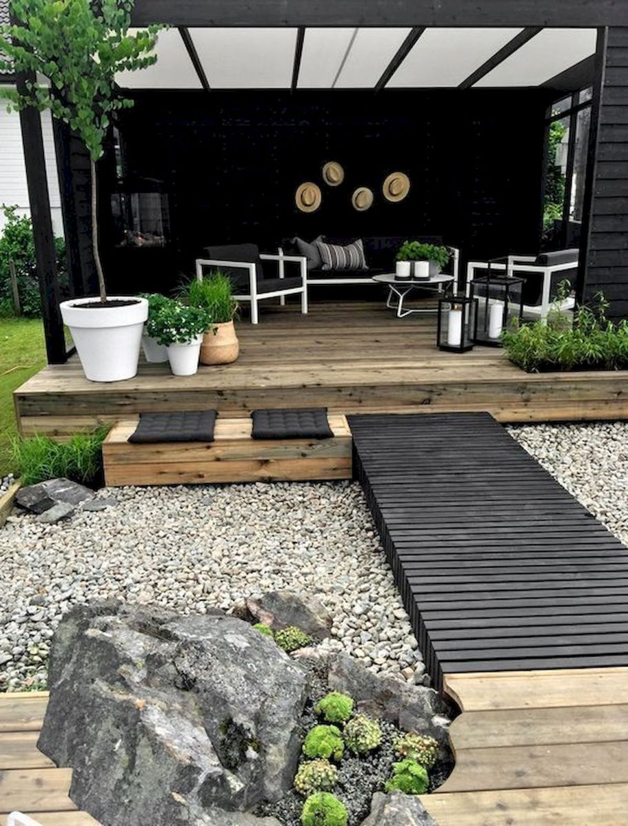 77 Beautiful Side Yard And Backyard Gravel Garden Design Ideas 40