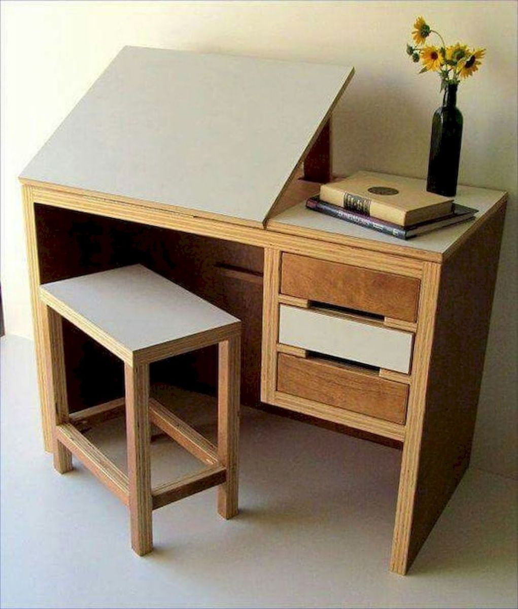 80 Wonderful DIY Art Desk Work Stations Ideas and Decorations (33)
