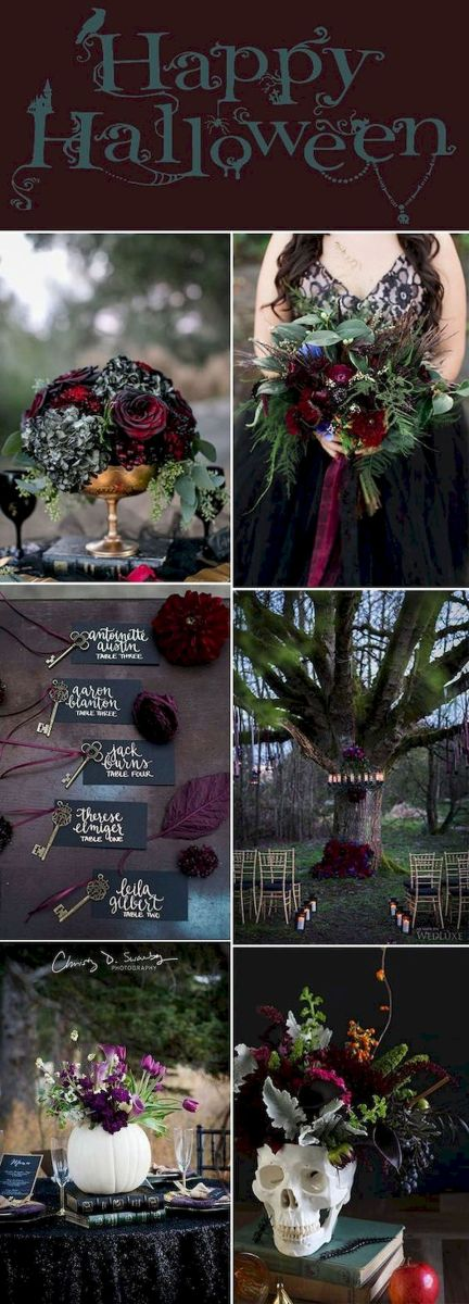 40 Awesome Halloween Wedding Decoration Ideas (8)