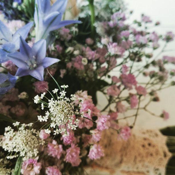 detalle de ramo de novia con paniculata