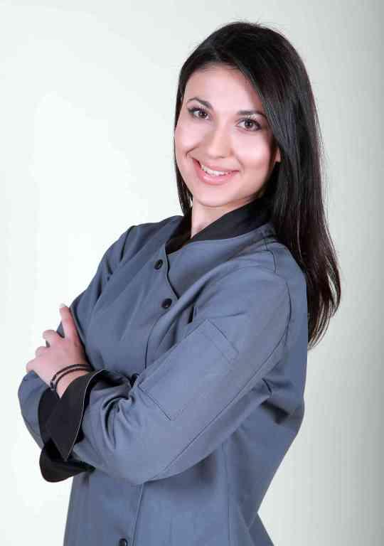 Σακάκι σεφ γυναικείο σε γκρι χρώμα