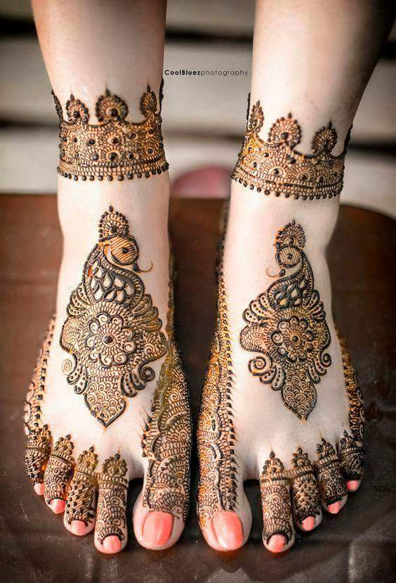 Mehndi Leg Design 2018 Latest Images : Best bridal mehndi design for legs art craft ideas