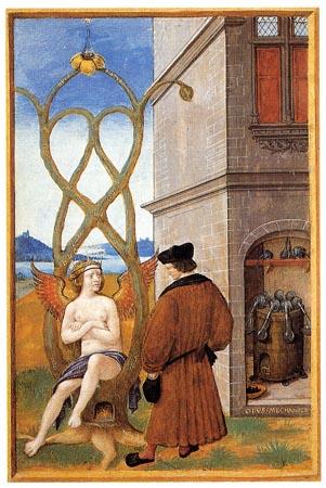 Йоханнес Перрил. Первое известное изображение арбоскульптуры (возможно, фантазия художника). 1516 г.