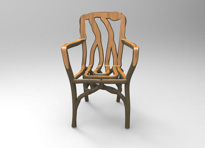3D-модель выращенного стула