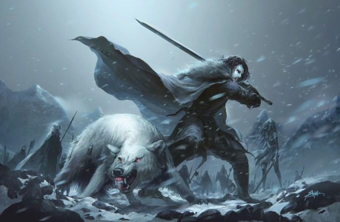 Мудзя Ляо. «Джон Сноу и Призрак». Иллюстрация из артбука «Рисуй острым концом»