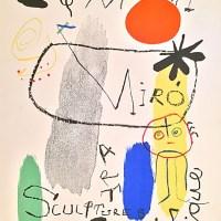 Жоан Миро. Афиша для выставки «Искусство. Скульптура. Графика». 1950 год.