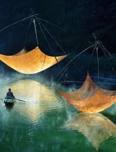 Проверка рыболовных сетей. Вьетнам