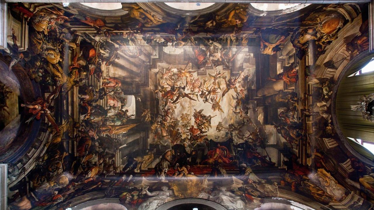 Потолочная роспись в церкви Сан-Панталон, Венеция