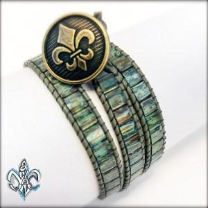 Wrap Bracelet Picasso Green