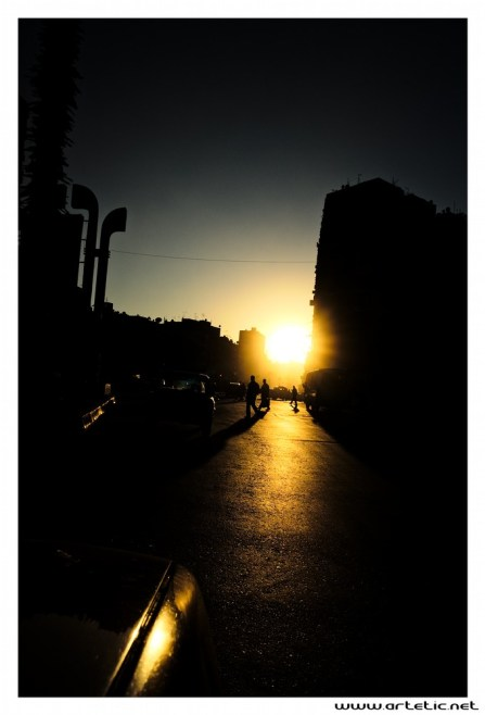 Streets of Cairo by sunset