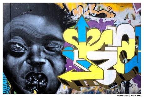 Street art photography in Paris