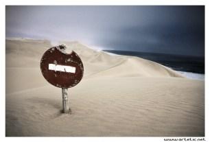 Sandwich harbour, where sand dunes meet atlantic ocean