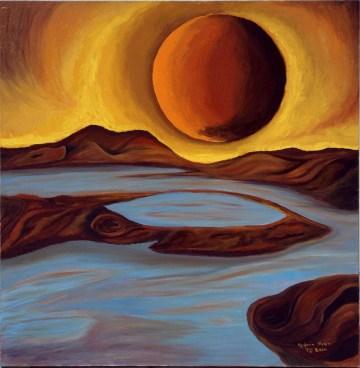 Universal Image (Oil οn canvas, 90Χ90 cm)