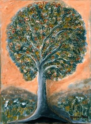 The Tree of Joy (Acrylic on canvas, 40x30cm)