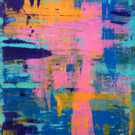 Original Abstract Painting by Robert Erod   Abstract Art on Canvas   2017 Abstract #22 Palette Knife Art