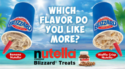 Dairy Queen Nutella Blizzard Treats