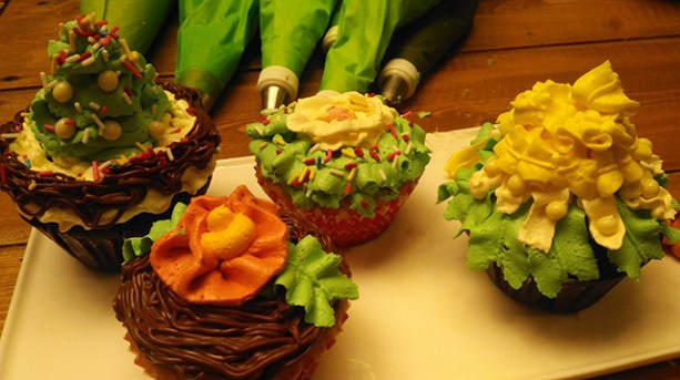 Last year's cupcakes