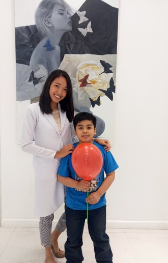 Jael with Dr. Raia Tirona