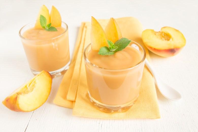 Peach smoothie dessert