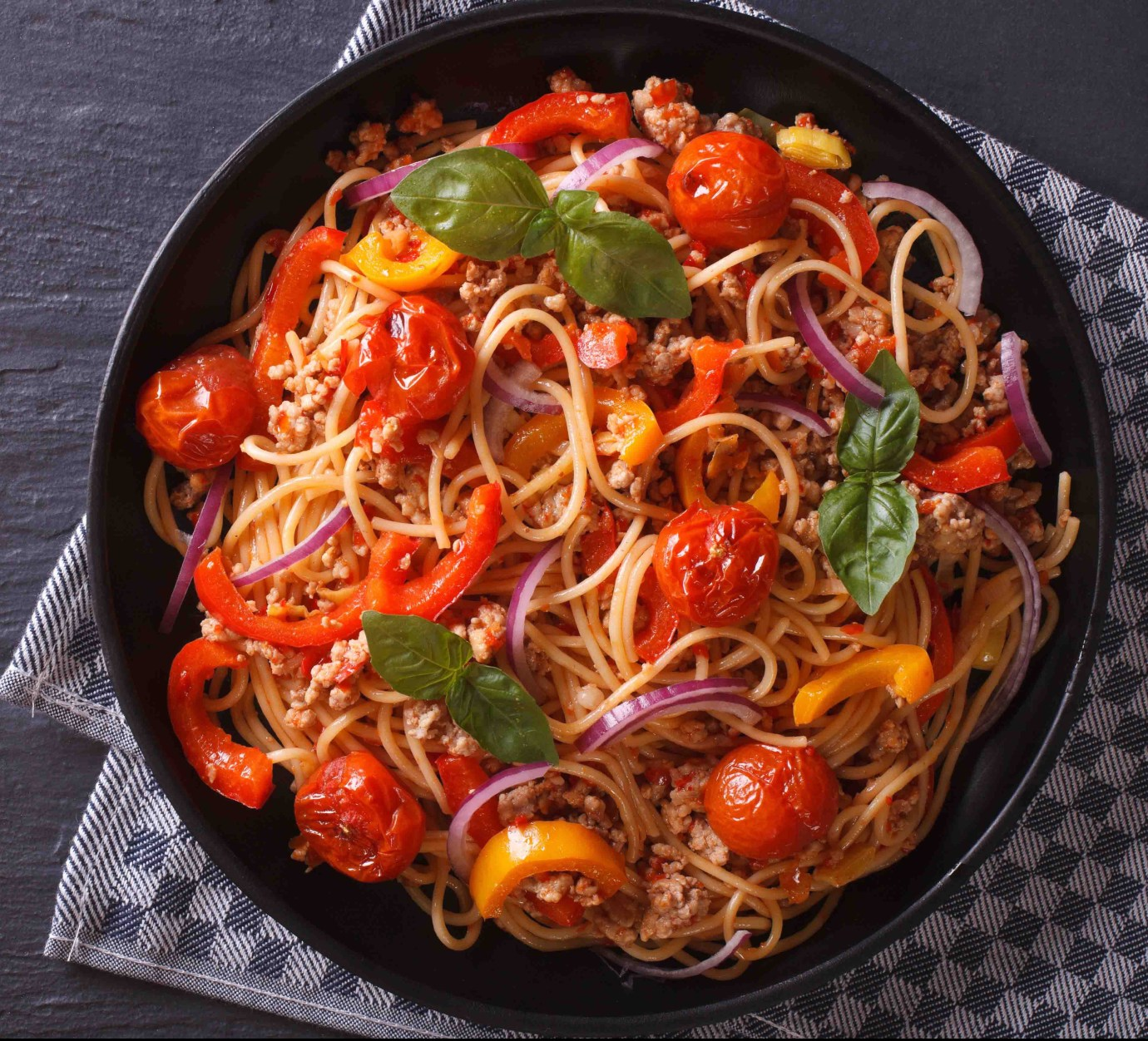 Vegan or meat spaghetti