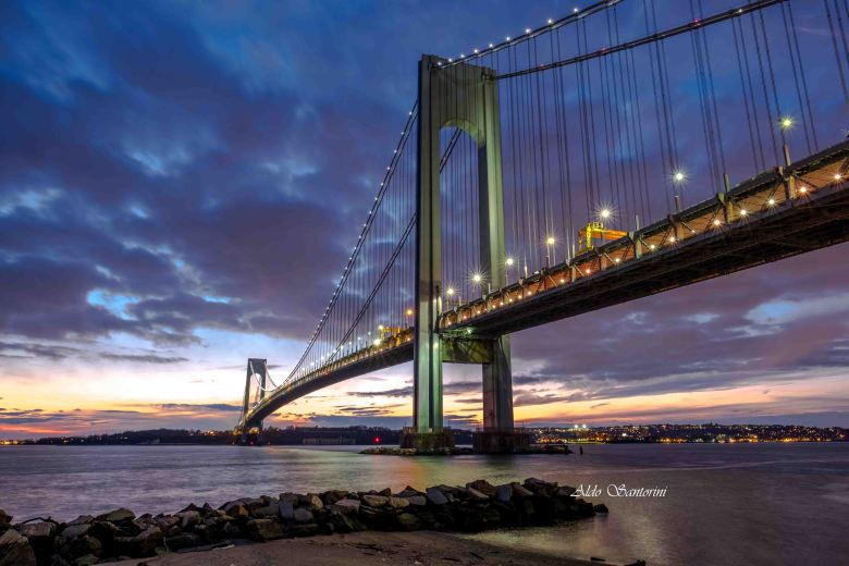 Verrazano-Narrows bridge in Brooklyn and Staten Island, NYC