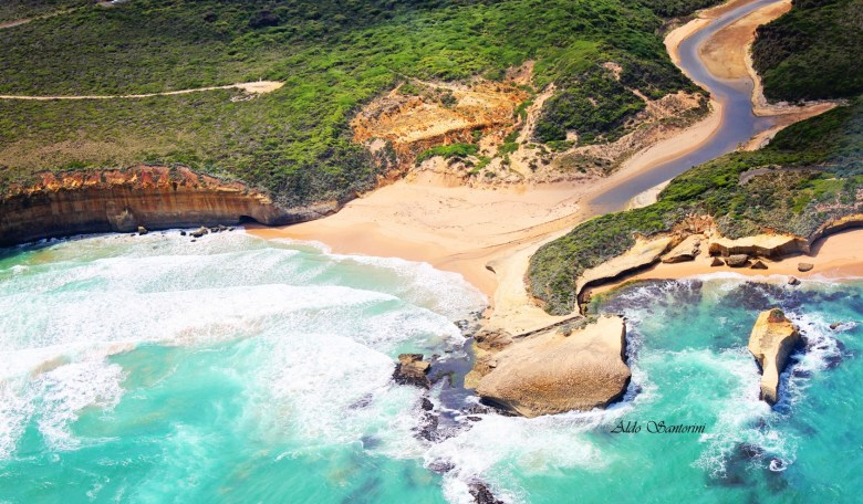 Helicopter ride above Great Ocean Road, Victoria, Australia