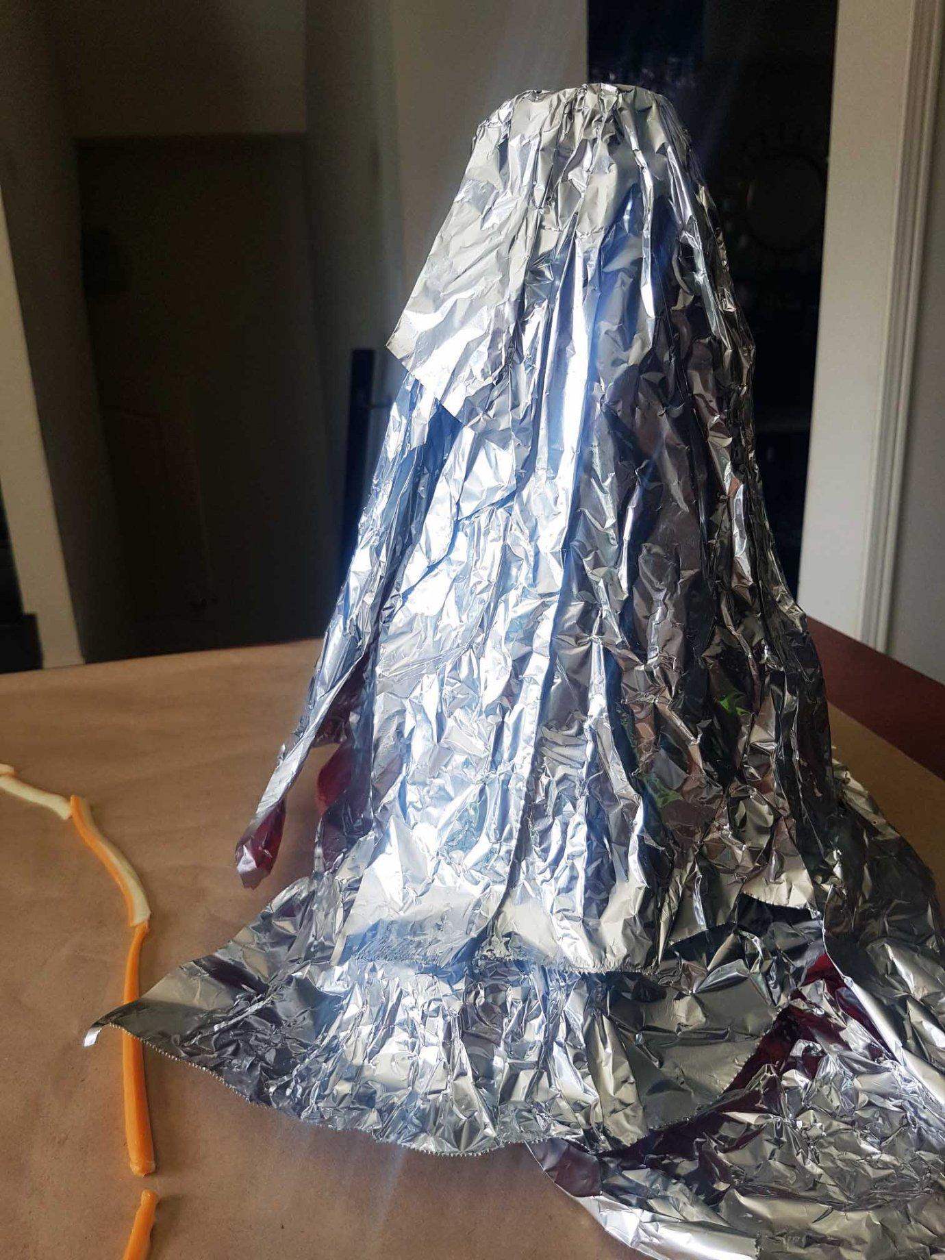 Volcano in foil